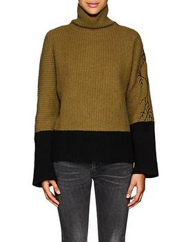 Colorblocked Wool Angora Sweater by Haider Ackermann