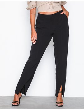 Front Slit Slim Pants by Nly Trend