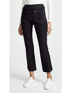 Cropped Flare Trousers With Patch Pockets by Derek Lam 10 Crosby