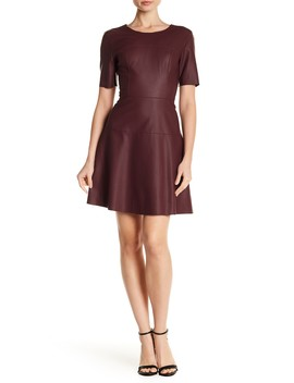 Carla Faux Leather Fit & Flare Dress by Tart