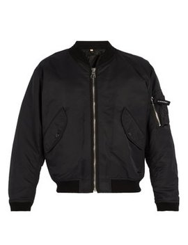 Zip Through Bomber Jacket by Burberry