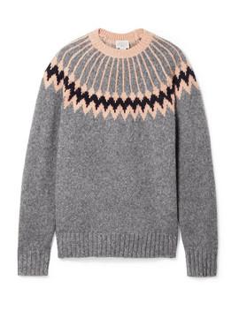 Intarsia Wool Blend Sweater by Jason Wu Grey