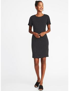 Ponte Knit Flutter Sleeve Sheath Dress For Women by Old Navy
