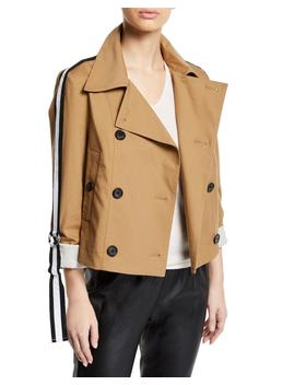 Mert Cropped Jacket With Belted Sleeves by Veronica Beard