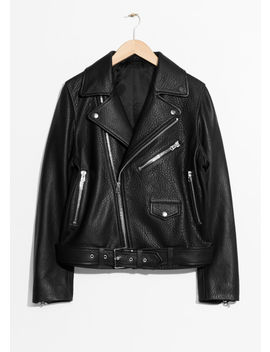 Oversized Leather Jacket by & Other Stories