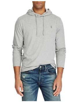 Long Sleeve Cotton Jersey Hooded Tee by Polo Ralph Lauren