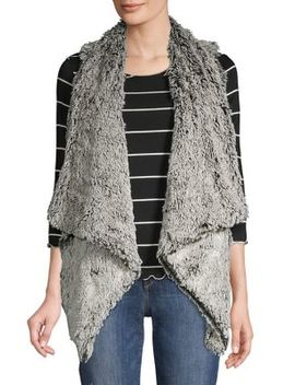 Faux Fur Draped Vest by Democracy