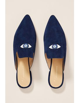Anthropologie Spirit Eye Mules by Anthropologie