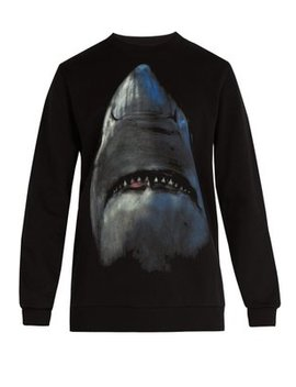 Shark Print Cotton Sweatshirt by Givenchy