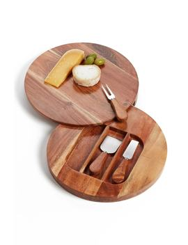 Acacia Wood Cheese Board & Cheese Knives by Nordstrom At Home