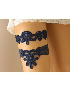 Wedding Stretch Lace Garter Set, Bridal Garter Set, Wedding Garter Set, Bridal Lace Garter, Wedding Lace Garter, Blue Garter Set by Etsy