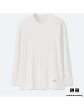 Men Alexander Wang Heattech Ribbed Crew Neck Long Sleeved T Shirt by Uniqlo