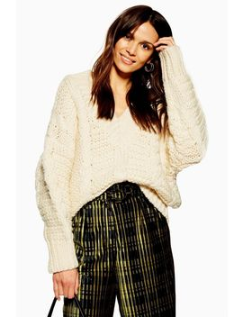 **Heavy Cable Knitted Jumper By Boutique by Topshop