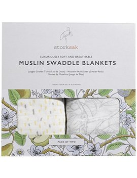 Storksak Swaddle Blankets, Pack Of 2 by Stork Sak