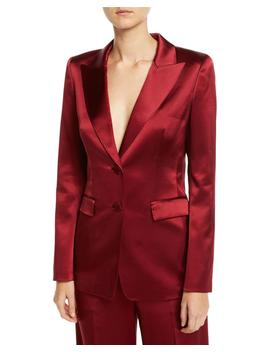 Faven Reverie Satin Jacket by Lafayette 148 New York