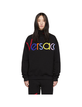 Black Vintage Logo Sweatshirt by Versace