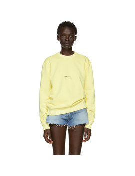 Yellow Rive Gauche Logo Sweatshirt by Saint Laurent