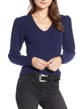 Puff Sleeve Sweater by Something Navy