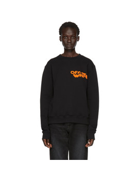 Black Bubble Font Slim Sweatshirt by Off White