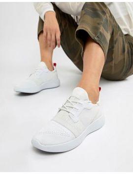 Calvin Klein Meryl Knit White Logo Sneakers by Calvin Klein