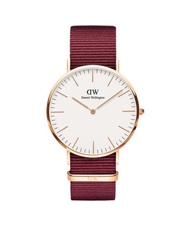40mm Classic Roselyn Watch W/ Nylon Strap by Daniel Wellington