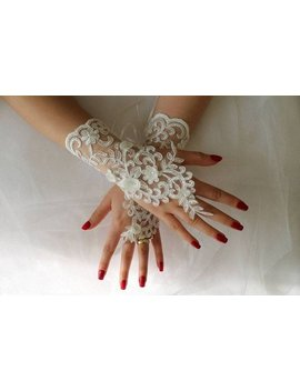 Gloves, Lace Gloves, Fingerless Bridal Gloves İvory Lace Glove Bridal Wedding Day Wedding Dress Accessory ,Long Glove by Etsy