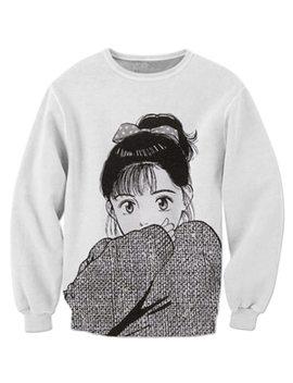 P Lstar Cosmos Drop Shipping 2018 New Harajuku Anime 3d Sweatshirt Men Women Hoodies Anime Girl Print Casual Tracksuits Hoodies   by P Lstar Cosmos