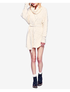 For The Love Of Cables Sweater Dress by Free People