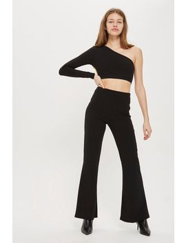 **Black High Waisted Flares By Club L London by Topshop