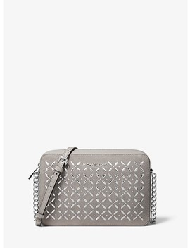 Jet Set Large Embellished Leather Crossbody by Michael Michael Kors