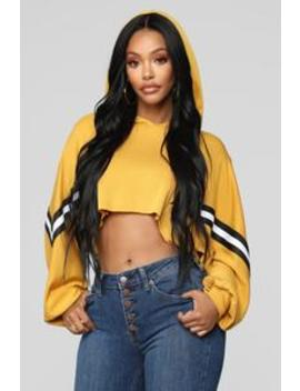 On The Run Hoodie   Mustard by Fashion Nova