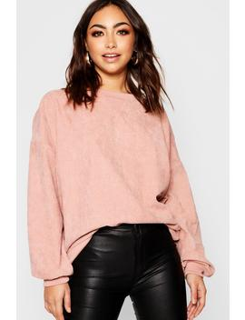 Oversized Cord Jumper by Boohoo