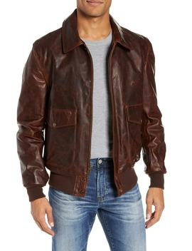 Vintage Oiled Cowhide Leather Flight Jacket by Schott Nyc