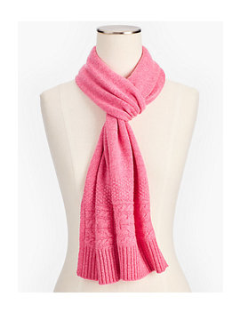 Cashmere Cable Border Scarf by Talbots