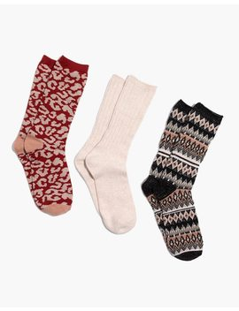 Three Pack Metallic Mix Trouser Socks by Madewell