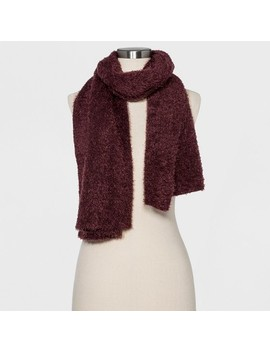 Women's Fuzzy Wuzzy Scarf   Wild Fable™ Burgundy by Wild Fable