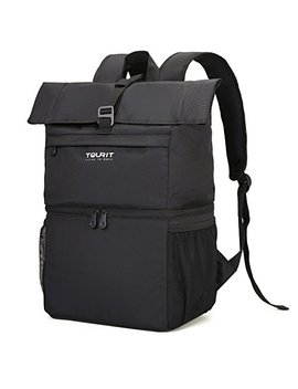 Tourit Cooler Backpack Large Insulated Lunch Backpack Lightweight Backpack With Cooler Compartment For Men Women To Work Picnic Hiking Beach Park Or Daily Trips   Double Decker Backpack by Tourit