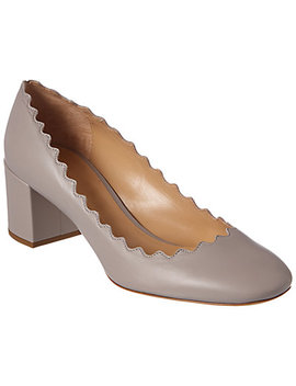 Chloé Lauren Scalloped Leather Pump by Chloe