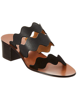 Chloé Lauren Scalloped Leather Sandal by Chloe