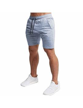 Everworth Men's Casual Training Shorts Gym Workout Fitness Short Bodybuilding Running Jogging Short Pants by Everworth