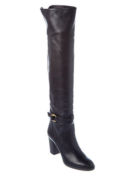 Chloé Lenny Leather Over The Knee Boot by Chloe