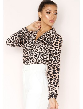 Amari Leopard Print Pyjama Style Blouse by Missy Empire