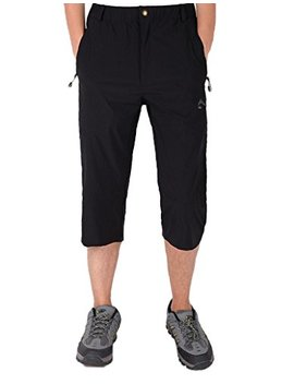 Biylaclesen Men's Outdoor Performance Three Quarter Jogger 3/4 Capri Pants by Biylaclesen
