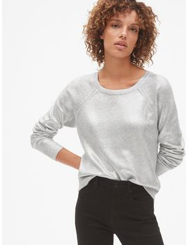 Metallic Pullover Sweater by Gap