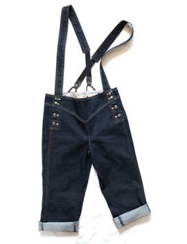 Armani Exchange Capri Jeans Small Sailor Nautical Style Suspenders Prototype by A|X Armani Exchange