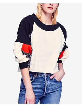 Josie Printed Mixed Knit Sweater by Free People