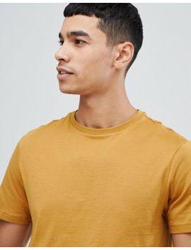 New Look Senapsgul T Shirt Med Rund Halsringning by Asos