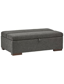 "Rivet Fold Modern Ottoman Sofa Bed, 48"" W, Dark Grey by Rivet"