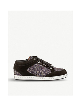Miami Suede And Glitter Trainers by Jimmy Choo