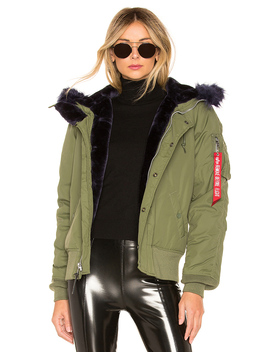 N 2 B Impact Parka With Faux Fur Trim by Alpha Industries
